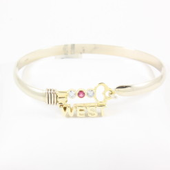 Key West Gold & Ruby Bracelet