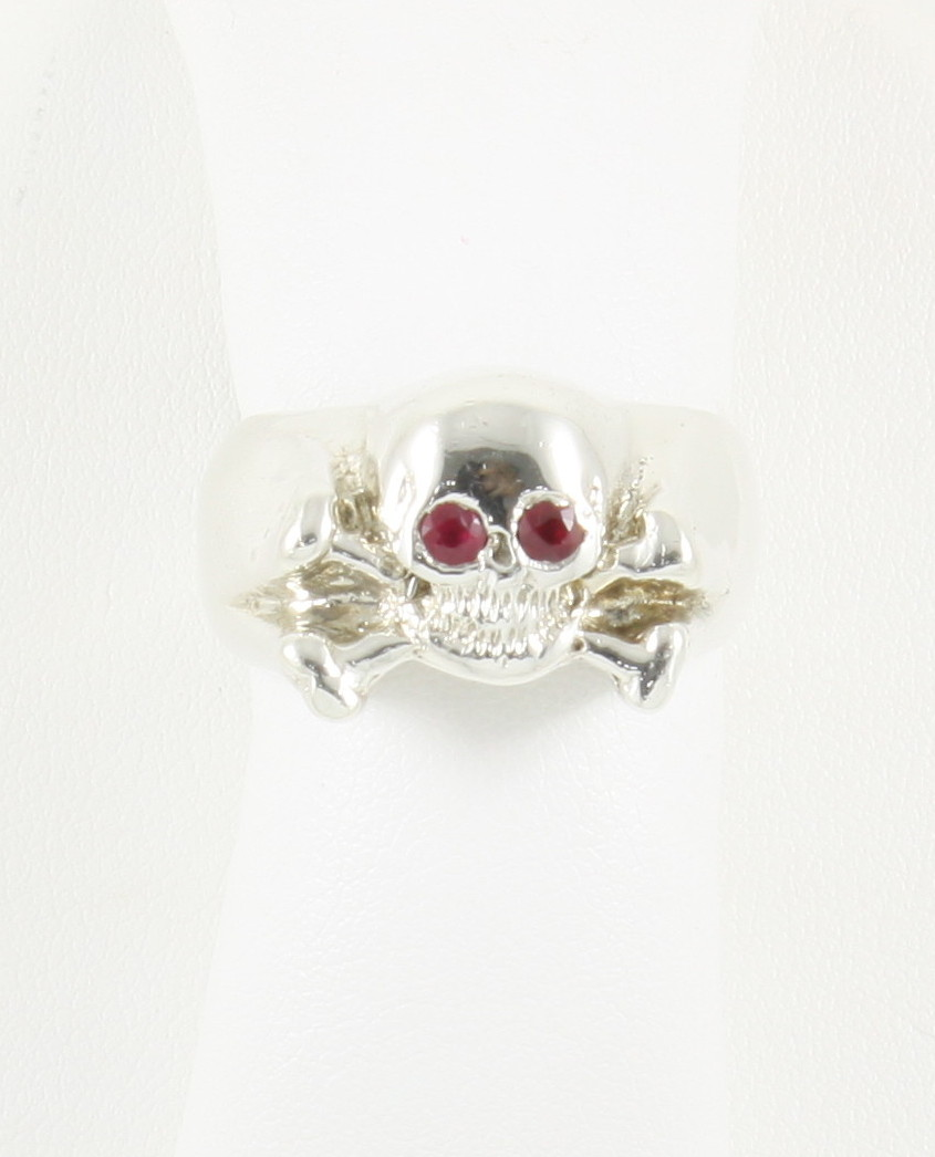 Skull and crossbone ring w ruby eyes neptune designs for Key west jewelry stores