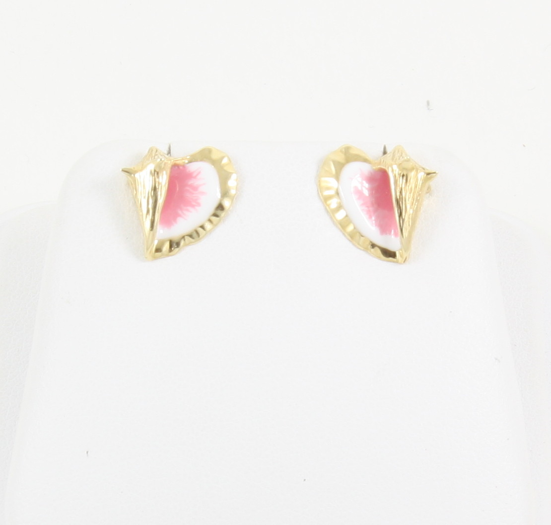 14k conch shell post earrings neptune designs custom for Key west jewelry stores
